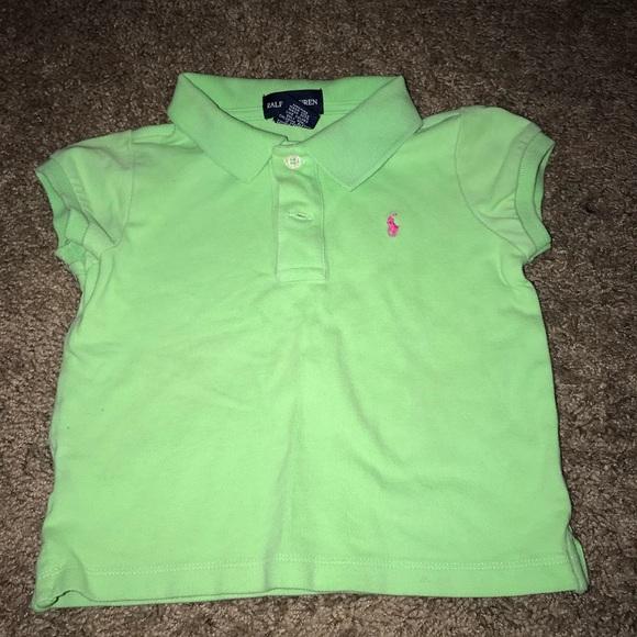 girls green polo shirt